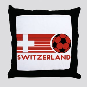 Switzerland Soccer Throw Pillow