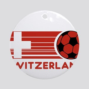 Switzerland Soccer Ornament (Round)