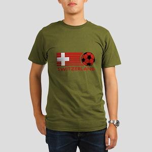 Switzerland Soccer Organic Men's T-Shirt (dark)