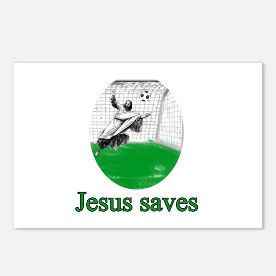 Jesus saves a goal Postcards (Package of 8)