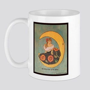 La senorita y la luna. Mug