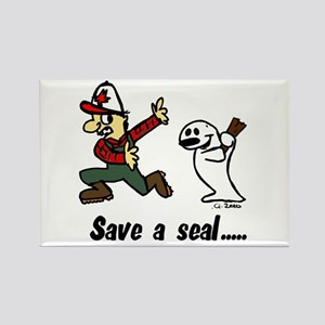 Save a seal, club a Canadian Rectangle Magnet