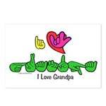 I-L-Y Grandpa Postcards (Package of 8)