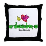 I-L-Y Grandpa Throw Pillow