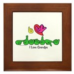 I-L-Y Grandpa Framed Tile