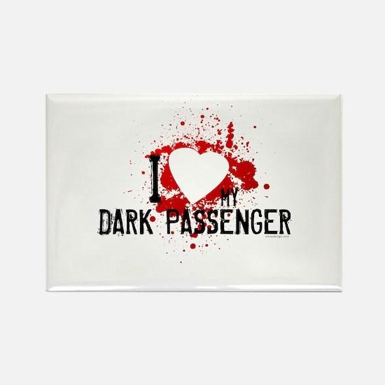 I Heart My Dark Passenger Rectangle Magnet