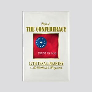 17th Texas Infantry Rectangle Magnet