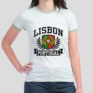 Lisbon Portugal Jr. Ringer T-Shirt