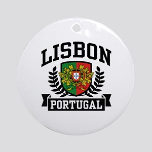 Lisbon Portugal Ornament (Round)