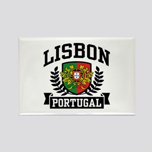 Lisbon Portugal Rectangle Magnet