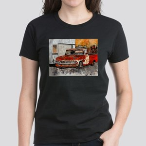 old pickup truck vintage anti Women's Dark T-Shirt