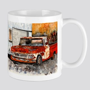 old pickup truck vintage anti Mug