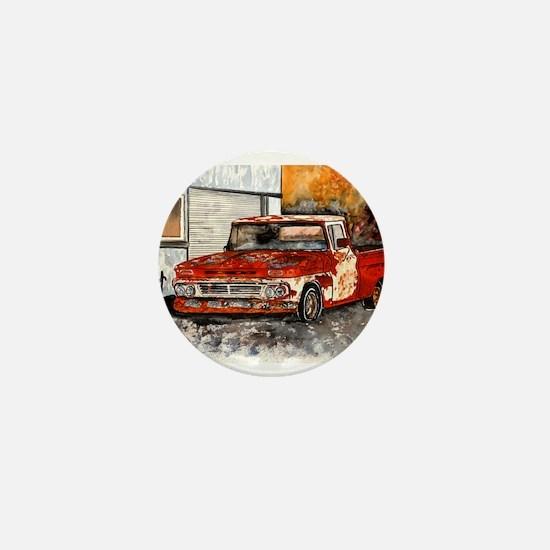 old pickup truck vintage anti Mini Button