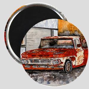old pickup truck vintage anti Magnet