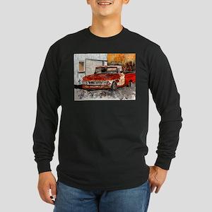 old pickup truck vintage anti Long Sleeve Dark T-S