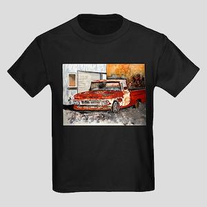 old pickup truck vintage anti Kids Dark T-Shirt