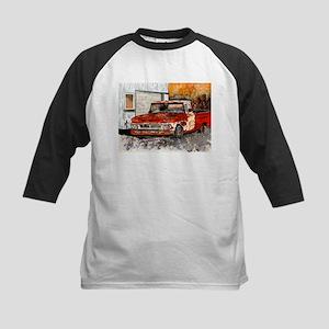 old pickup truck vintage anti Kids Baseball Jersey