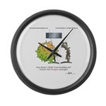 GET HUNGRY! by April McCallum Large Wall Clock