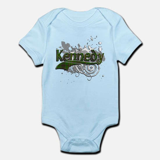 Kennedy Tartan Grunge Infant Bodysuit