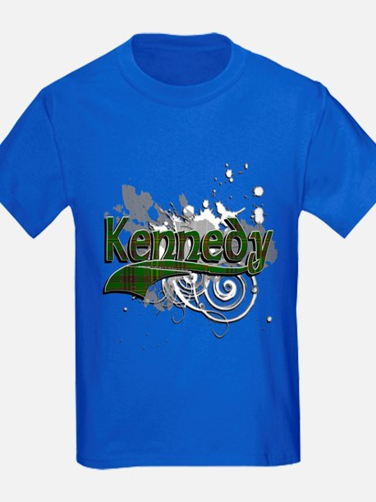 Kennedy Tartan Grunge T