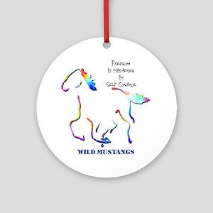Wild Mustangs Ornament (Round)