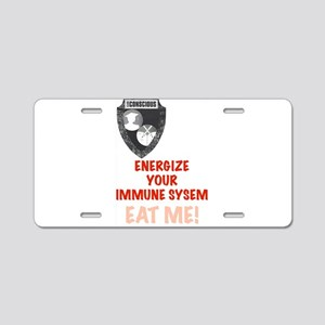 Energize Your Immune System Aluminum License Plate