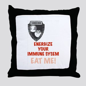 Energize Your Immune System Throw Pillow