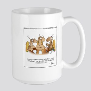 HEADCOUNT by April McCallum Large Mug