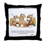 HEADCOUNT by April McCallum Throw Pillow