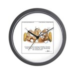 HEADCOUNT by April McCallum Wall Clock