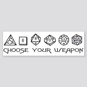 Choose Your Weapon Sticker (Bumper)