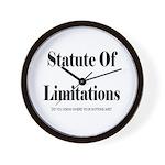 Statute of Limitations Wall Clock
