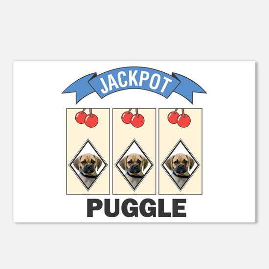 Jackpot Puggle Postcards (Package of 8)