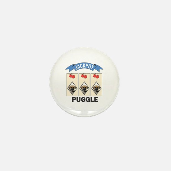 Jackpot Puggle Mini Button