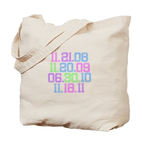 Twilight Saga Movie Dates Fad Tote Bag