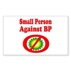 Small People against BP Sticker (Rectangle 10 pk)