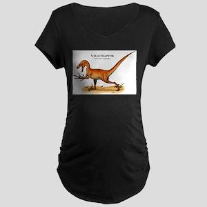 Velociraptor Maternity Dark T-Shirt