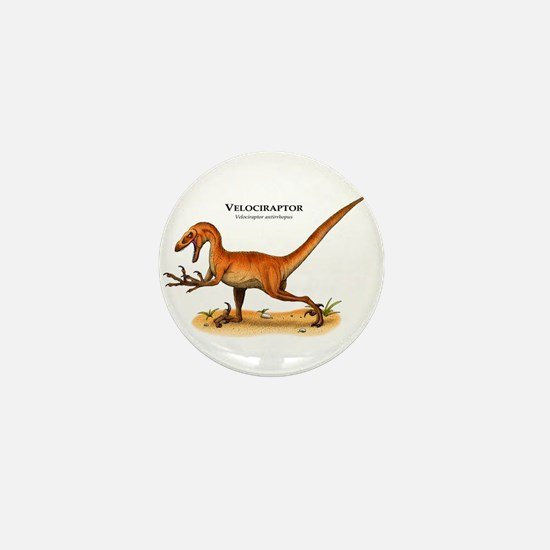 Velociraptor Mini Button