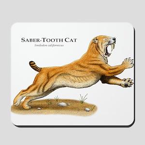 Saber-Tooth Cat Mousepad