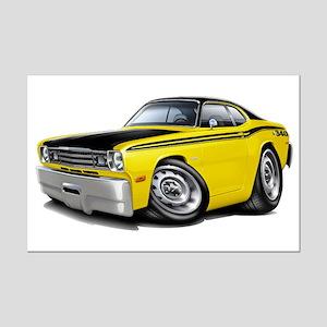 Duster 340 Yellow Car Mini Poster Print