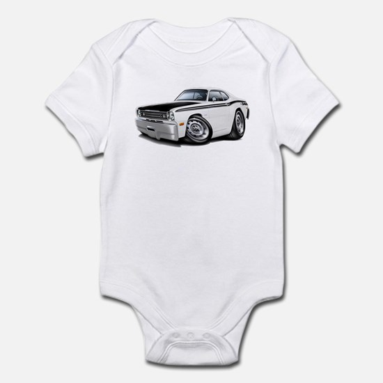 Duster 340 White Car Infant Bodysuit