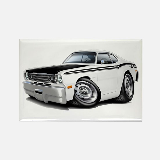 Duster 340 White Car Rectangle Magnet