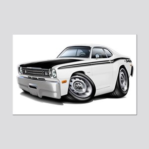 Duster 340 White Car Mini Poster Print