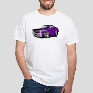 Duster 340 Purple Car White T-Shirt