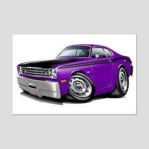 Duster 340 Purple Car Mini Poster Print