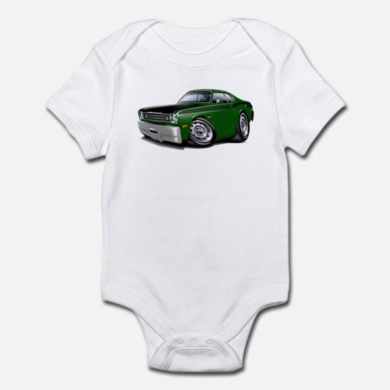 Duster 340 Green Car Infant Bodysuit