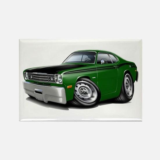 Duster 340 Green Car Rectangle Magnet