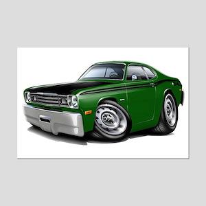 Duster 340 Green Car Mini Poster Print