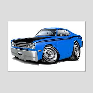 Duster 340 Blue Car Mini Poster Print