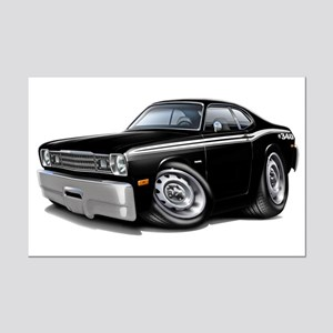 Duster 340 Black Car Mini Poster Print